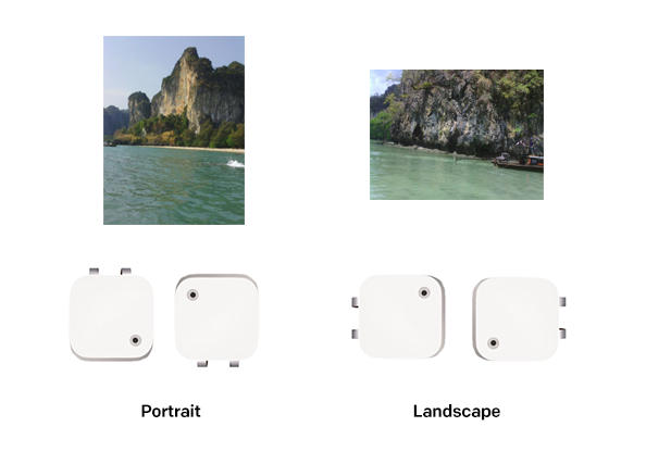 Depending on how you wear your Narrative Clip, the photos will come out in portrait or landscape.