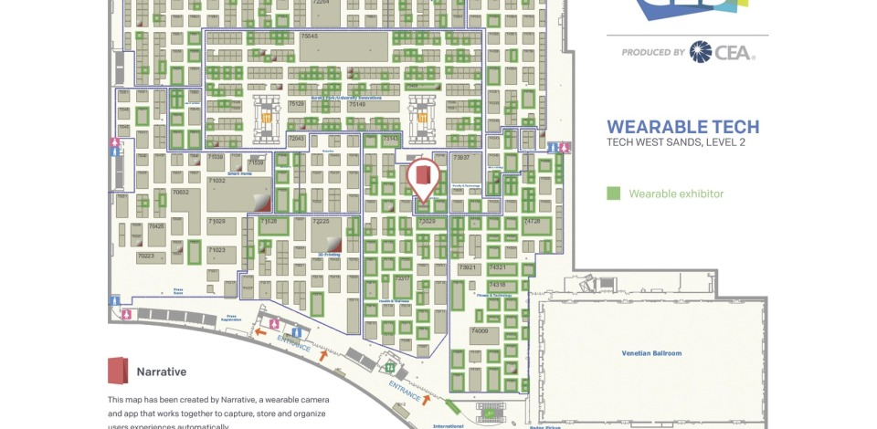 CES2015 Wearable Tech Map