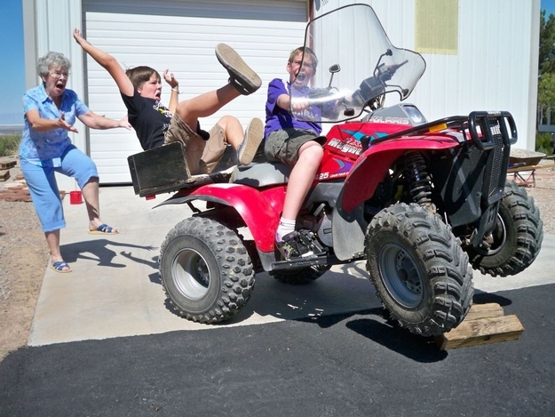 The perfectly timed ATV fall photo: