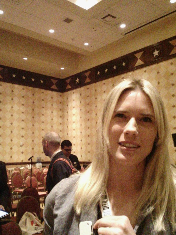 Alisa Leonard, CEO Q Innovations, wearing the Clip