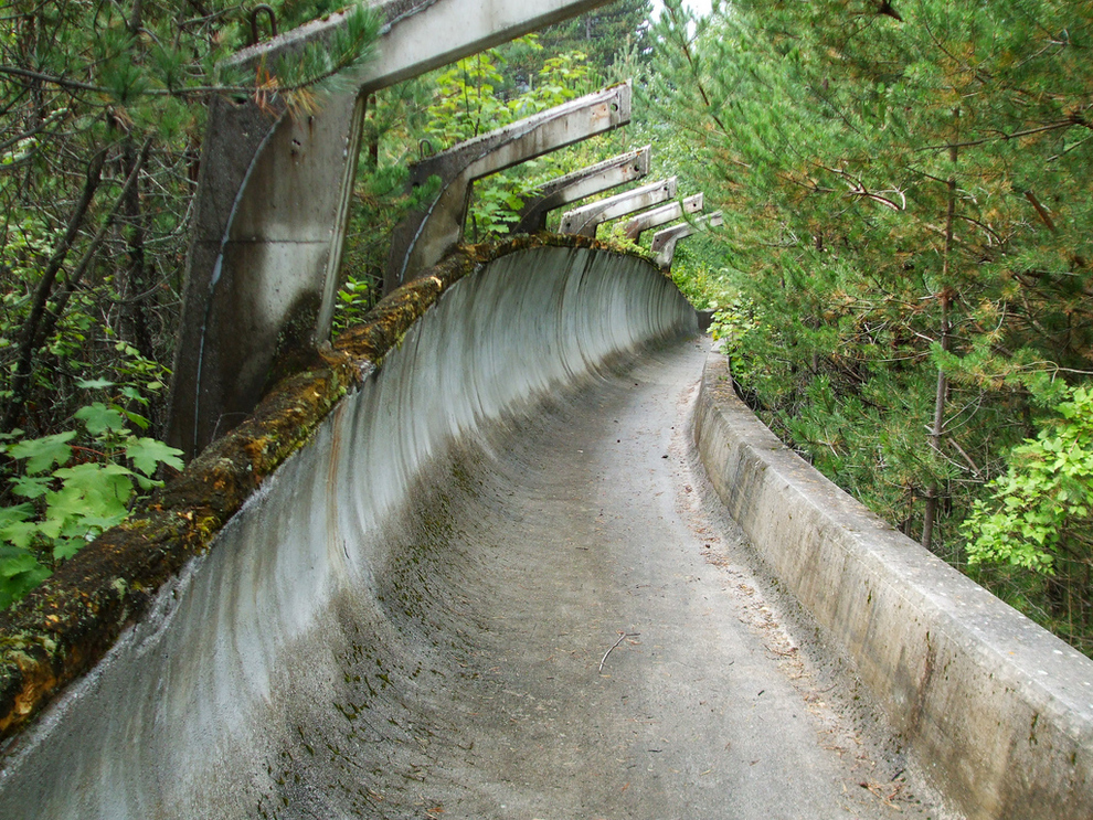 1984 Winter Olympics bobsleigh track in Sarajevo