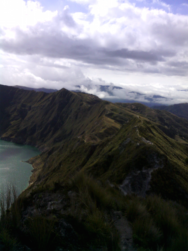 volcanic crater lake of Quilotoa