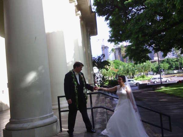 wedding photo with narrative clip