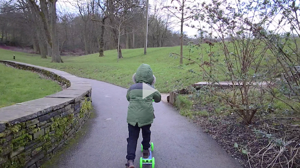 Kid with scooter