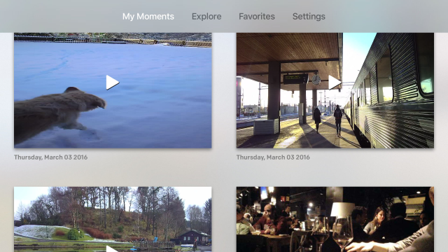 Narrative Clip Apple TV App